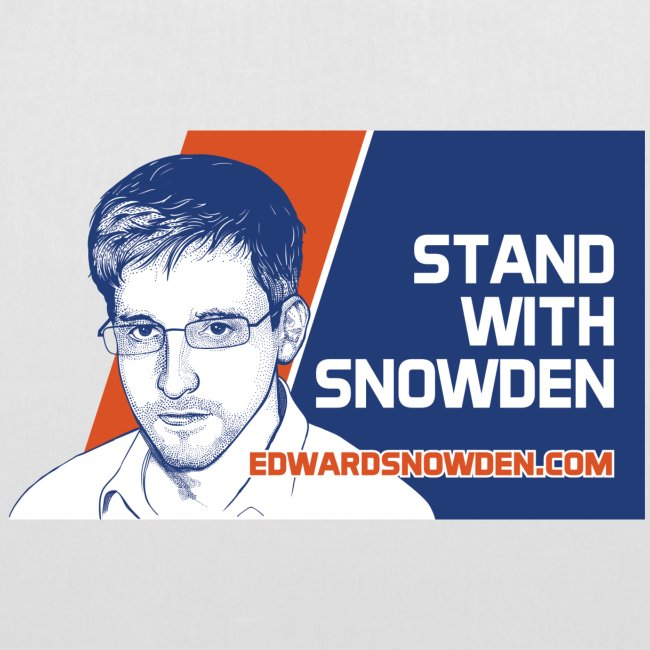 Stand with Snowden tote bag
