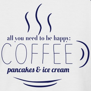 COFFEE, PANCAKES & ICE CREAM T-Shirts - Männer Baseball-T-Shirt