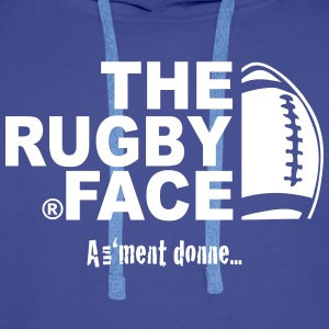 the rugby face - Sweat-shirt à capuche Premium pour hommes