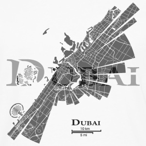 Dubai Map Long sleeve shirts - Men's Premium Longsleeve Shirt