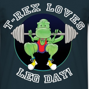T-Rex Loves Leg Day! T-Shirts - Men's T-Shirt