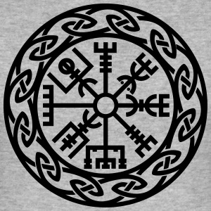 Vegvísir, Iceland, Magic Rune, Protection compass T-shirts - slim fit T-shirt