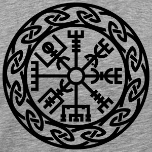Vegvísir, Iceland, Magic Rune, Protection compass T-shirts - Herre premium T-shirt