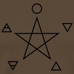Pentagram, elements, spirit, magic symbol Koszulki - Koszulka męska Premium
