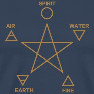 Pentagram, elements, spirit, magic icon T-shirts - Mannen Premium T-shirt
