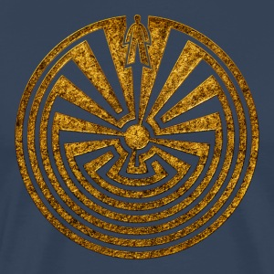 I'itoi, Man in the Maze, Indianer Symbol Labyrinth - Männer Premium T-Shirt
