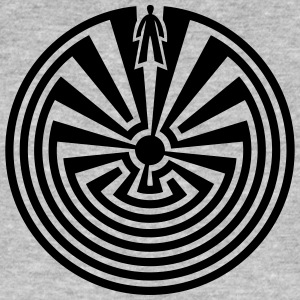 I'itoi, Man in the Maze, Indianer Symbol Labyrinth - Männer Bio-T-Shirt