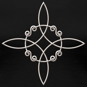 Witch`s Knot, Power of 4 elements - Binding Rune T-shirts - Dame premium T-shirt