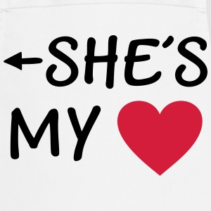 She is my Heart I love my Girlfriend She*s Mine  Aprons - Cooking Apron