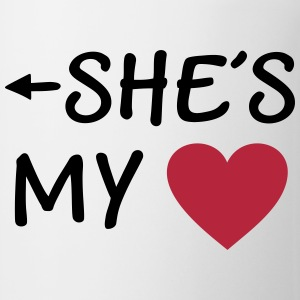 She is my Heart I love my Girlfriend She*s Mine Mugs & Drinkware - Mug