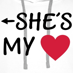 She is my Heart I love my Girlfriend She's Mine Pullover & Hoodies - Männer Premium Hoodie