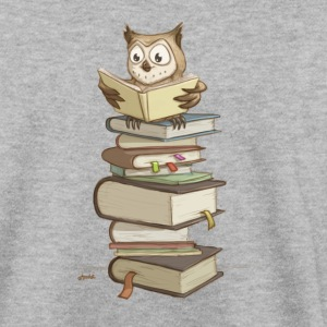 cute owl reading books Hoodies & Sweatshirts - Men's Sweatshirt