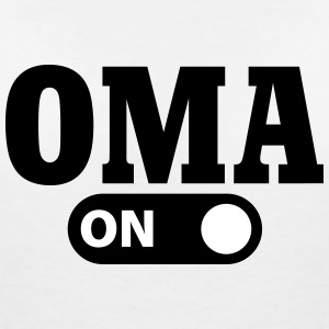 Oma on T-shirts - Vrouwen T-shirt met V-hals