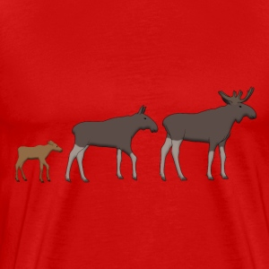 Moose family goes T-skjorter - Premium T-skjorte for menn