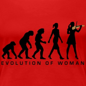 evolution_female_violin_player_112014_A_2c T-Shirts - Frauen Premium T-Shirt