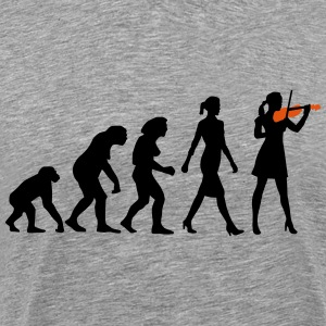 evolution_female_violin_player_112014_b_ T-Shirts - Männer Premium T-Shirt