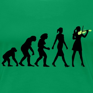 evolution_female_violin_player_112014_b_ T-Shirts - Frauen Premium T-Shirt