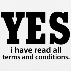Yes i have read all terms and conditions Tank Tops - Tank top premium hombre