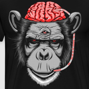 Brain Chimp 2 T-Shirts - Men's Premium T-Shirt