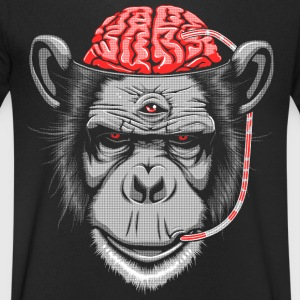 Brain Chimp 2 T-Shirts - Men's V-Neck T-Shirt