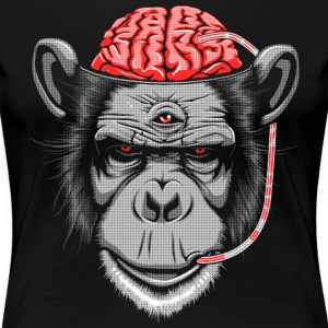 Brain Chimp 2 T-Shirts - Women's Premium T-Shirt