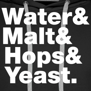 Beer | Water & Malt & Hops & Yeast. Hoodies & Swea - Men's Premium Hoodie