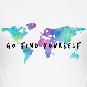 Go Find Yourself - Travel The World T-shirts - Herre Slim Fit T-Shirt