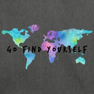 Go Find Yourself - Travel The World Tasker & rygsække - Skuldertaske af recycling-material