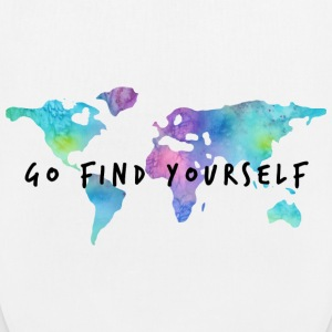 Go Find Yourself - Travel The World Sacs et sacs à dos - Sac en tissu biologique