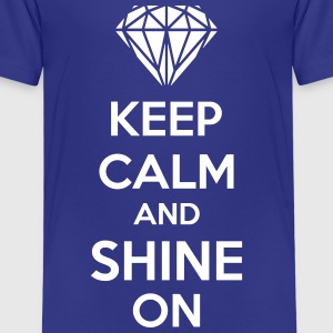 Keep Calm And Shine On Shirts - Kinderen Premium T-shirt