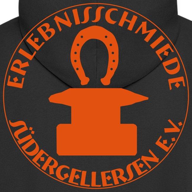 Schmiede-Vereins-Sweater ORANGE hinten + vorne ohne Kapuzendruck