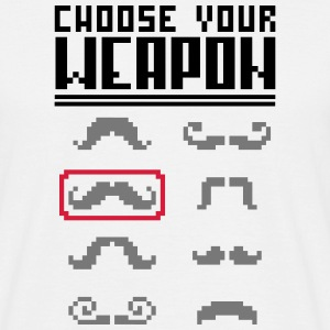 Choose your Weapon (Moustache) Tee shirts - T-shirt Homme