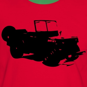 US Jeep Willys Ford - Männer Kontrast-T-Shirt