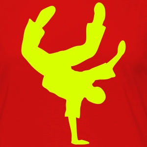 Breakdance Dancer Moves Freeze Clipart Music Dance Long Sleeve Shirts - Women's Premium Longsleeve Shirt
