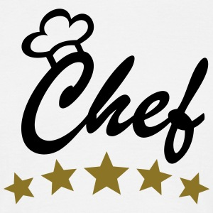 5 Stars Chef Cook Cooking Chef's Hat T-Shirts - Men's T-Shirt