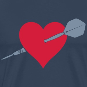 Dart by heart T-Shirts - Men's Premium T-Shirt
