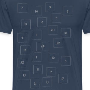 Advent Kalender T-shirts - Mannen Premium T-shirt
