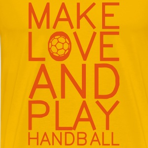 make love and play handball T-Shirts - Männer Premium T-Shirt