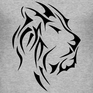 lion tete animal sauvage tribal 2409 Tee shirts - Tee shirt près du corps Homme