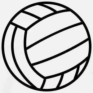 Volleyball Ball  T-shirts - Herre premium T-shirt