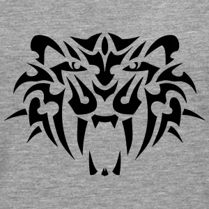 tigre tribal tete tattoo 19094 Manches longues - T-shirt manches longues Premium Homme