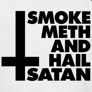 Smoke Meth and Hail Satan - Männer Baseball-T-Shirt