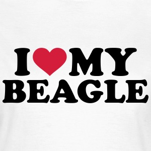 I love my Beagle T-Shirts - Frauen T-Shirt