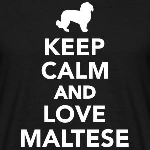 Keep calm and love Maltese T-Shirts - Männer T-Shirt