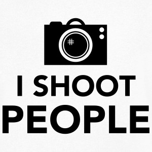 i-shoot-people T-shirts - Mannen T-shirt met V-hals