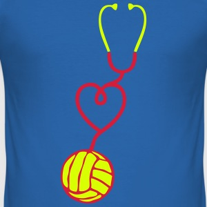 volleyball stethoscope coeur love Tee shirts - Tee shirt près du corps Homme