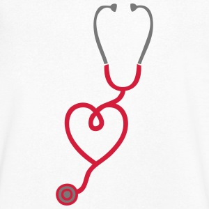 stethoscope coeur love stetoscope 1 Tee shirts - T-shirt Homme col V