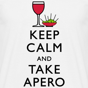 keep calm apero Tee shirts - T-shirt Homme