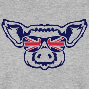 cochon tete lunette drapeau anglais 1 Sweat-shirts - Sweat-shirt Homme