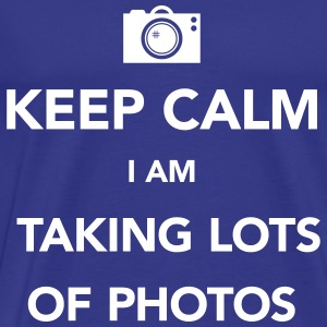 keep-calm taking lots of photos T-shirts - Mannen Premium T-shirt